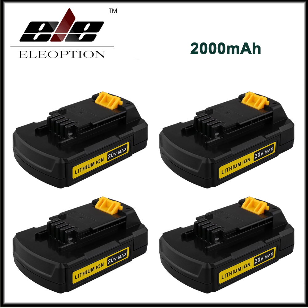 4x 20V Max 2000mAh Replacement Battery for Stanley font b Power b font font b Tools