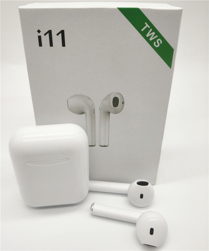 Auriculares inalámbricos i11 TWS Bluetooth 5,0 mini i7s auriculares con micrófono para iPhone X 7 8 Samsung S6 S8 xiaomi Huawei LG