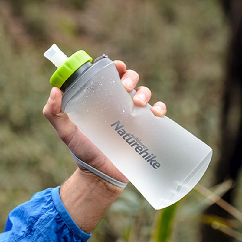500ml Folding Water Bottle Foldable Running Hiking Kettle Portable TPU Outdoor Bicycle Sports Water Bottle Drinkware