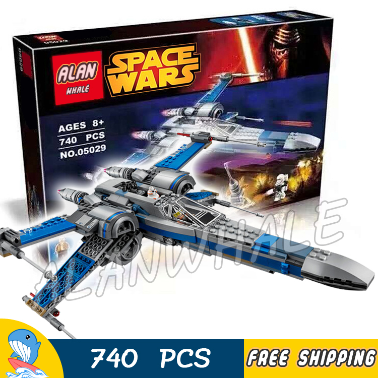 740pcs Space Wars Universe New Resistance X-Wing Fighter 35006 DIY Model Building Blocks Kit Toys Bricks Compatible with Lego 2015 high quality spaceship building blocks compatible with lego star war ship fighter scale model bricks toys christmas gift