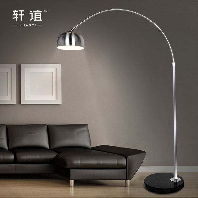 Stainless steel floor lamp fishing lamp brief mahjong light remote stainless steel floor lamp fishing lamp brief mahjong light remote control piano table lamp xy20051 aloadofball Images