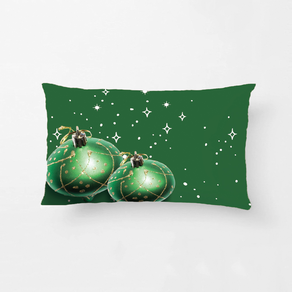 Let It Snow Throw Pillow Case Snowflakes Pattern Decotative Cushion Covers Merry Christmas Decoration Pillowcases