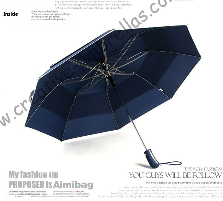 6pcs/lot colour optional 112cm visible real double layer two fold auto open golf umbrella 70T steel hex-angles outdoor parasol