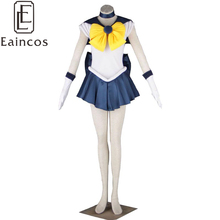 Fighting Uniforme de Anime Sailor Moon Sailor Uranus Cosplay Fiesta De Navidad Del Traje Del Vestido Por Encargo