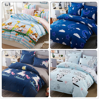 Cartoon Animal Pattern Duvet Cover Kdis Bed Linen 3/4 pcs Beding Sets Single Double Twin Queen King Size 1.2m 1.5m 1.8m Bedsheet
