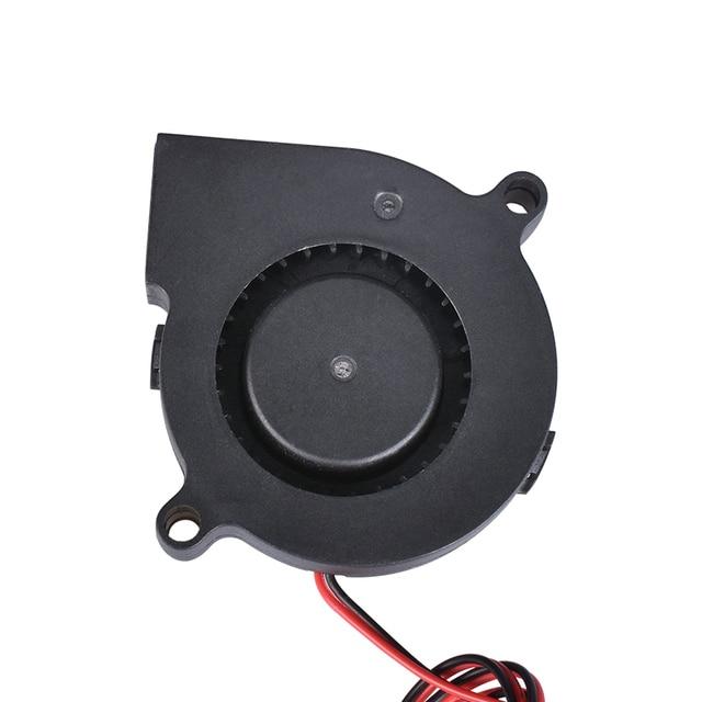 3D Printer Parts 5015 Blower Fan 12V 24V 0.1A Turbo cooling fan 5cm 50x50x15mm 5015/4010/3010 5V Black Plastic Fans For Extruder 3