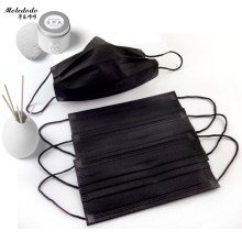 Moledodo 10Pcs/bag Disposable Non Woven Black Face Mask Medical Dental Earloop Anti-Dust Flu Mouth Pm2.5 mask