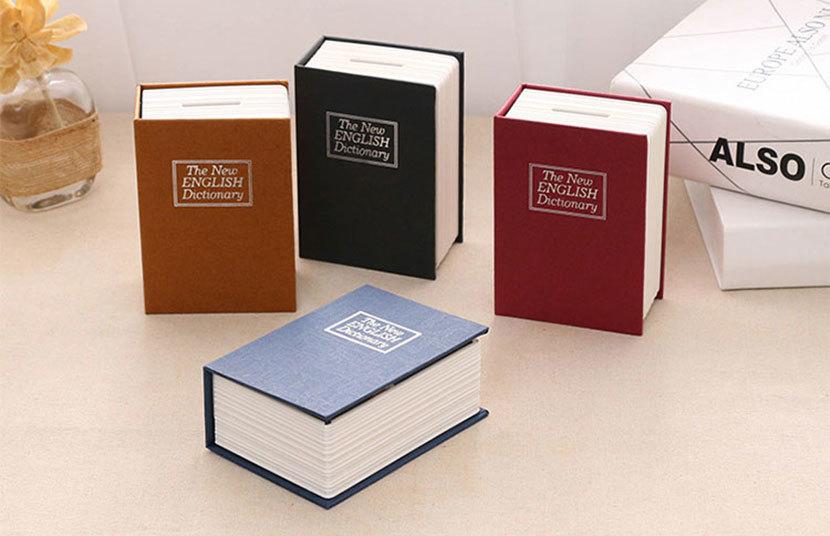 купить Dictionary Safe Box Secret Book Money Hidden Security Safe Lock Cash Money Coin Storage Jewellery Password Locker For Kid Gift по цене 1162.52 рублей