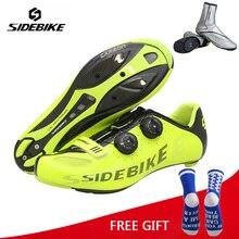 цена Sidebike Carbon Ultralight Cycling Shoes Self-Lock Racing Athletic Road Bike Bicycle Riding Shoes zapatillas hombre ciclismo онлайн в 2017 году