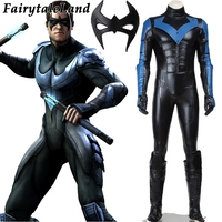 Halloween cosplay Batman costume Arkham City Nightwing Cosplay Costume adult Men Superhero Batman cosplay costume custom made