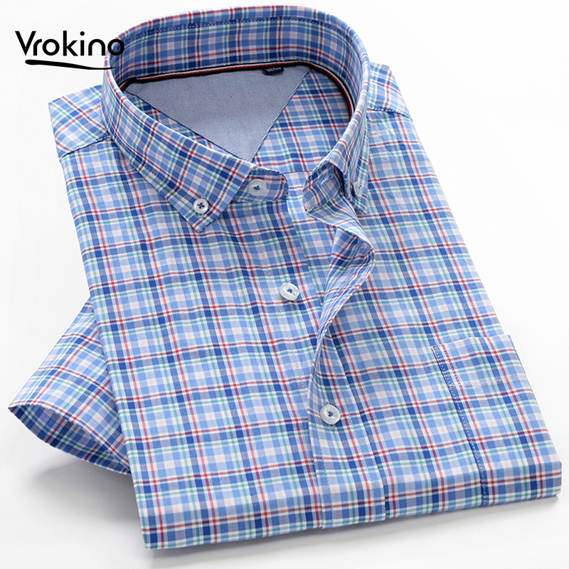 Conffetti Mens Curved Hem Contrast Color Short Sleeve Lapel Neck Slim Button Down Shirts