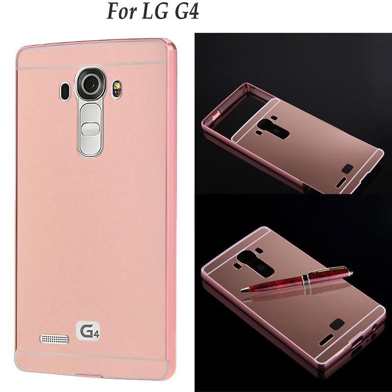 Accesorios del teléfono celular para lg g2 g3 g4 g5 caso de lujo espejo pc parte