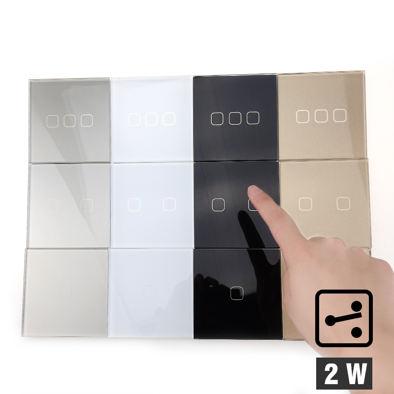 EU 1 Gang 2 Way Wall Light Controler Smart Home Automation Touch Switch Switch Waterproof and Fireproof 2 Gang 3 Gang lediary led lighting switch stainless steel 1 gang 2 gang 3 gang 4 gang and 1 way 2 way push button wall switches 50v 440v
