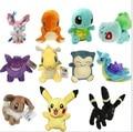 14 types Pokemon Plush toys Figure  Doll Toy  Pikachu Charmander Gengar Bulbasaur Eevee Lapras Dragonite Fashional Toy