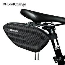 CoolChange Bicycle Saddle Bag Waterproof MTB Bike Rear Bag Reflective Cycling Rear Seat Tail Large Storage Bag Bike Accessories