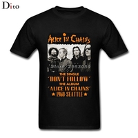 Branded Design 80s Style Vintage Alice In Chains T Shirts Mens Custom Short Sleeved Great Quality