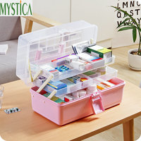 First Aid Kit Medical Storage box Multi Function Environmental Plastic Organizer Case Travel Medicine Box Hiking Survival Kits