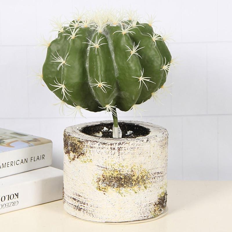 Artificial Prickly Pear Succulents Cactus Green Plant Simulation Plants Fake Flowers DIY Home Decoration Desert Plants Landscape
