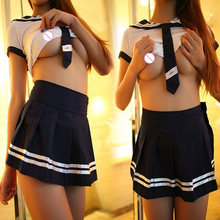 2016 Sexy lingerie hot women cosplay youth student uniforms sexy costumes white lenceria sexy bikini set sex products toy