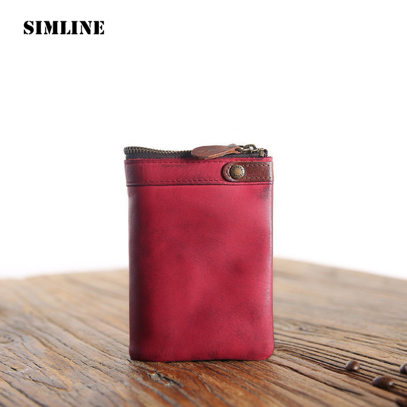 Brand Vintage Genuine Cow Leather Cowhide Men Men's Short Wallet Wallets Coin Purse Card Holder With Zipper Pocket Male Carteira genuine leather mens wallet black hasp men purse with zipper coin pocket portfolio male short card holder vertical men wallets