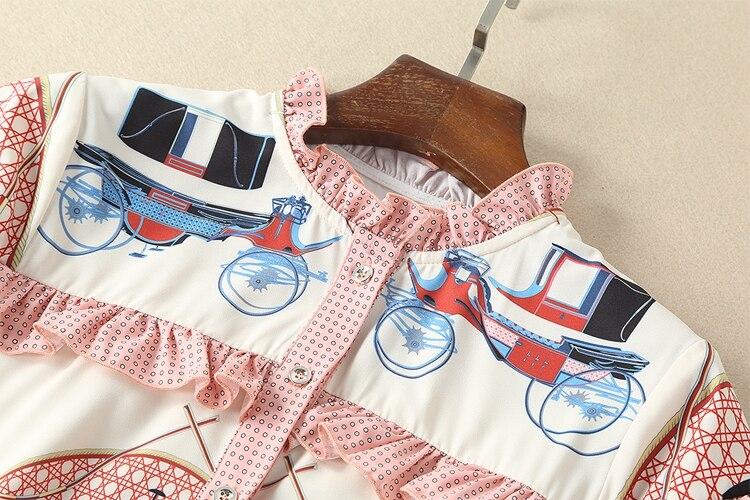 sets Femme Vêtements Printemps Manches Dame Européenne 2018 Femmes Pantalon La Nouvelle Courtes Eté De Twin Imprimer Casual Chemise Designer LqMUGSzVp