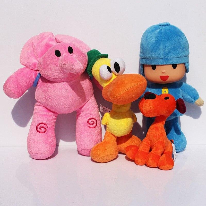 Pocoyo Elly Loula Pato Canard éléphant en peluche jouets pour enfants