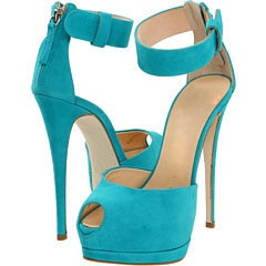 ФОТО Designer brand new covered heel turquoise suede leather peep toe dress sandals ankle buckle strap thin high heel shoes
