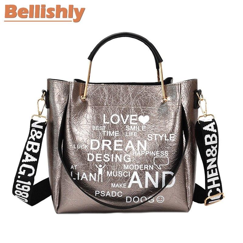 Bellishly women's words letter shoulder bag womens fashion popular handbags female zipper hand bags cell phone pocket lady bolsa 1
