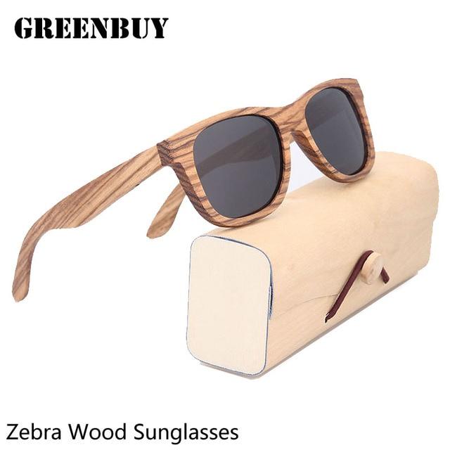 Sun Glasses for Men Gray Polarized Lens UV400 Vintage Designer Wooden Glasses Frame Mens Sunglasses Brand Designer Polarized