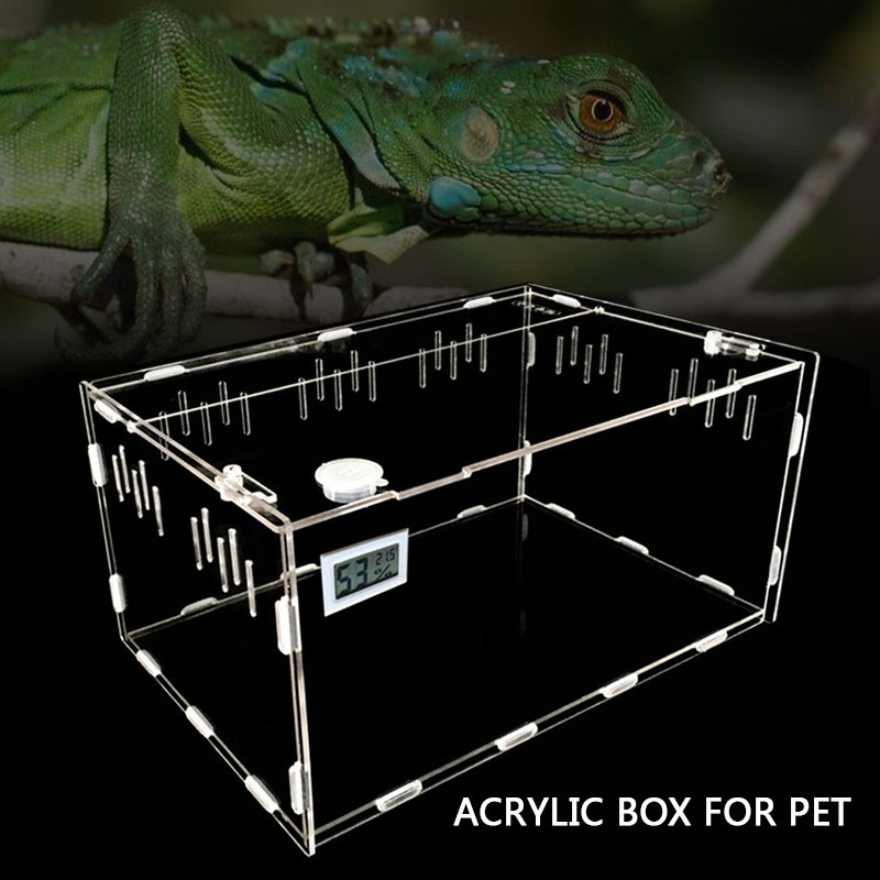 30*20*15cm Transparent Home Decoration Cold Blooded Animals Pet Breeding Box Insect Reptile Pets Acrylic Reptiles for Garnish