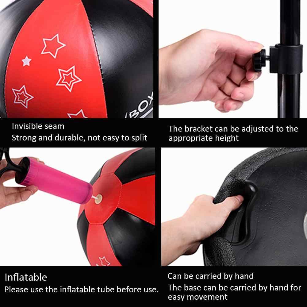 Santai Tinju Kecepatan Platform Tas Anak Kebugaran Pukulan Pear Kecepatan Bola Tas Tinju Set dengan Sarung Tangan Tinju dan Pompa Inflator