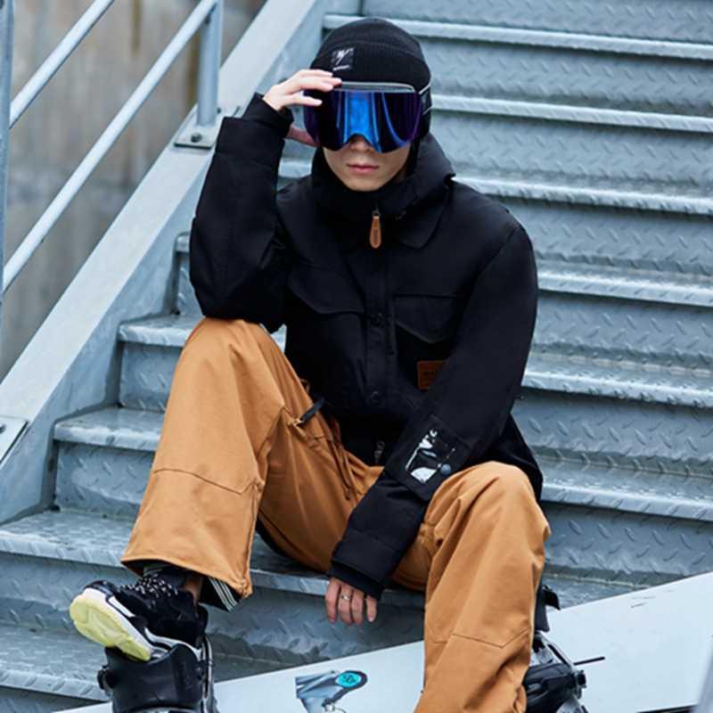 Новый бренд для улицы, мужской зимний лыжный костюм, m65, зимняя куртка для катания на лыжах и сноуборде, ветрозащитная Водонепроницаемая лыжная одежда, Теплая мужская-30