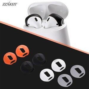 Image 1 - Auriculares antideslizantes ultrafinos de silicona, funda de repuesto mejorada para auriculares Airpods de Apple, 4 pares