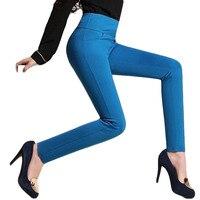 Plus Size Cintura Alta Calças Stretch Pés Legings Moda Quatro Bolso Costura Leggings Calca Feminina Cintura Alta BG395