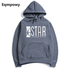 EqmpowyAutumn hoodies superman series men hoody STAR S.T.A.R.labs jumper the flash gotham city comic books black sweatshirt