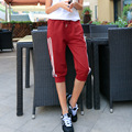 S-XL Women Pants Capris New Capris Fitness Women Elastic Cotton Crops Three Bars Trousers for girls/students/young