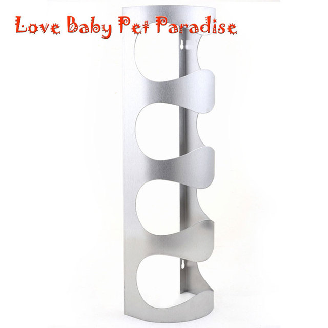 Fashionable Home Decoration Packaging 4 Bottles Support Stainless Steel Wine  Bottle Holder Rack Shelf For Home Good Looking