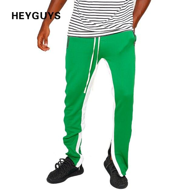 760fc3ecaf52 HEYGUYS wygodne Spodnie Na Co Dzień Spodnie Spodnie Dresowe Stałe Hip Hop  ulica Mężczyźni Biegaczy oversize