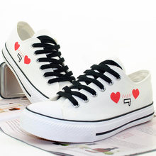 2016 spring summer harajuku style design hand-painted canvas shoes casual shoes eu size 35~44