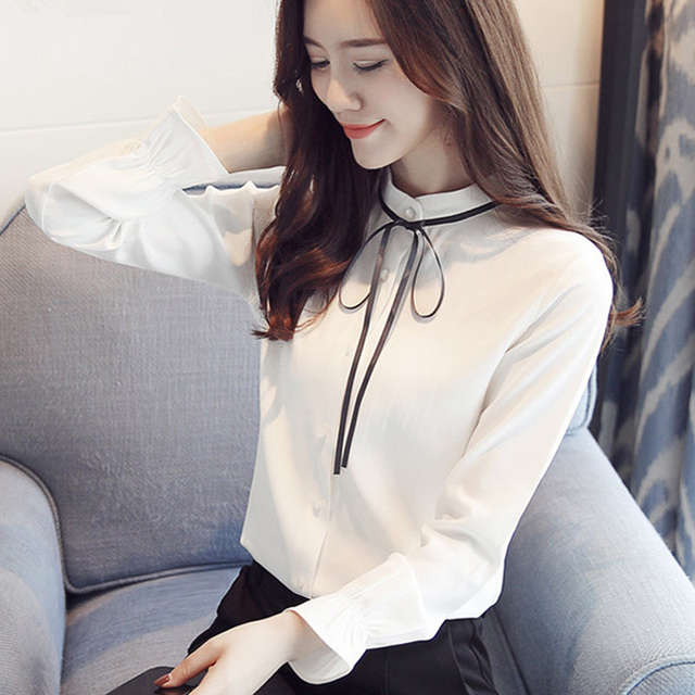 572b2acac8c8 placeholder Camisas de trabajo de oficina blusa de chifón Camisa Mujer 2019  moda elegante talla grande Tops