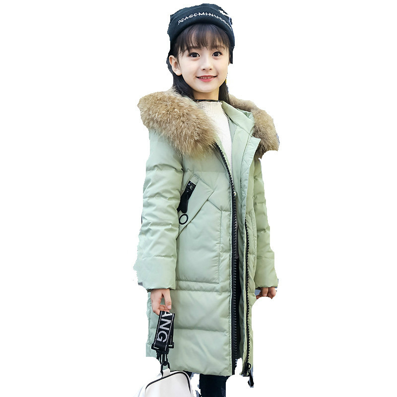 2018 New Girls 'Winter Coat Big Boy Warm Hair Collar with Hat Thick Long Feather Wear feather detail pillarbox fascinator hat