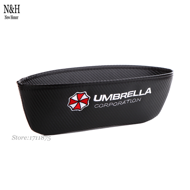 Umbrella Logo For Alfa Romeo Audi Cadillac Infiniti Ford KIA Catch Catcher Seat Slit Gap Pocket Storage Glove Organizer Slot Box