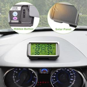 Image 2 - Car TPMS Sensor Tyre Pressure Monitoring System Solar Monitor Tire Wireless Sensors TMPS Wheels Security Alarm External Internal