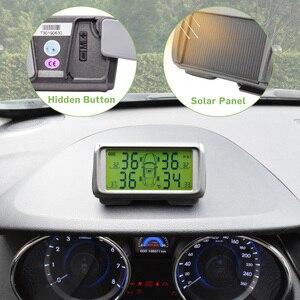 Image 2 - רכב TPMS חיישן צמיג לחץ ניטור מערכת שמש צג צמיג אלחוטי חיישנים TMPS גלגלים אבטחת אזעקה חיצוני פנימי