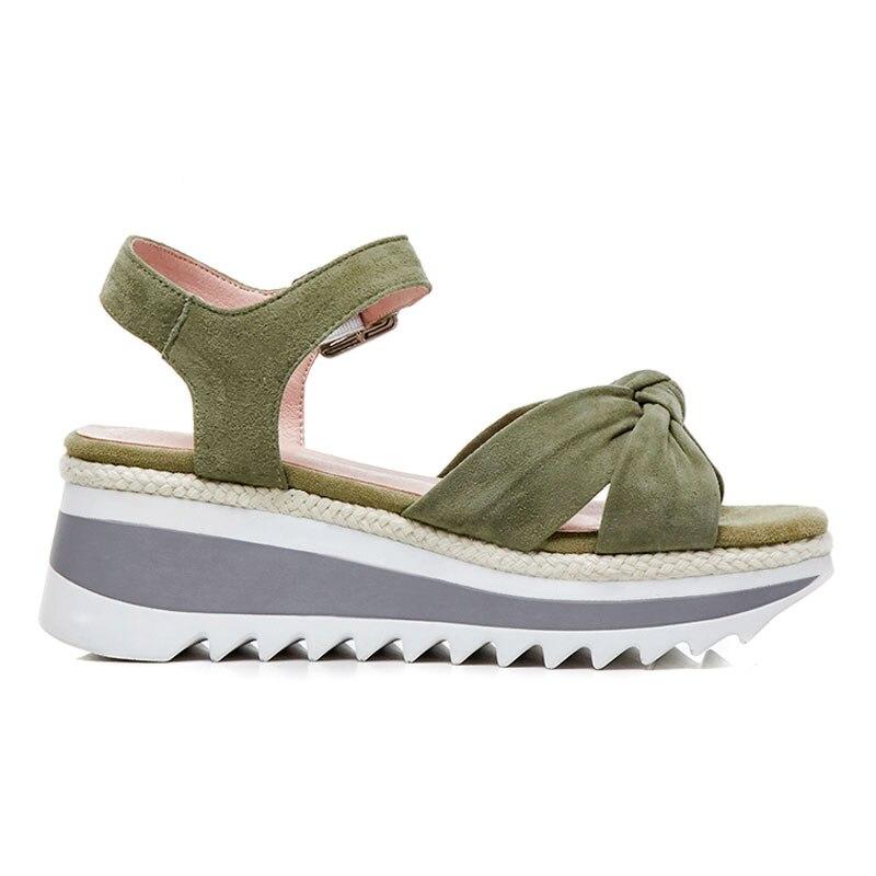 Green Hecho Black Del Sandalias Zapatos De A Fanyuan Ante Alto Mujer rQsxthdC