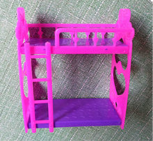 1set girl birthdayfor girl toy plastic bed for doll mini kelly doll play house accessories gift(China)