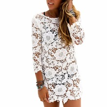 New New Women Girls Lace Floral Bikini Cover Up Beach Dress Bathing Swimwear