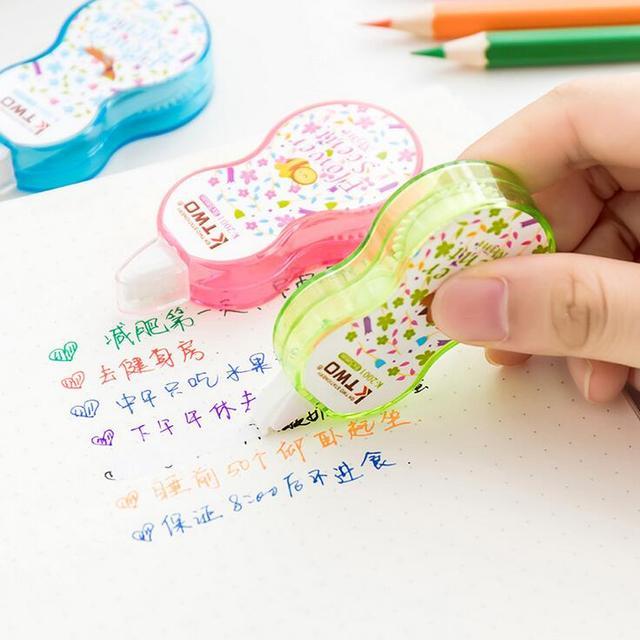 Мини-цветочный аромат Канцелярские Декоративные ленты коррекции корректирующая жидкость школы и офиса питания