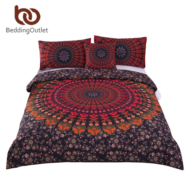 acheter beddingoutlet 4 pi ces mandala boho literie ensemble cach couvre lit. Black Bedroom Furniture Sets. Home Design Ideas