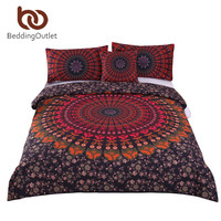 BeddingOutlet Mandala Bedding Concealed Bedspread Duvet Cover Set 2Pcs Or 3Pcs Boho Bedlinen Twin Full Queen